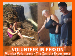 Volunteer in Person at the Mumba Children's Project Zambia.